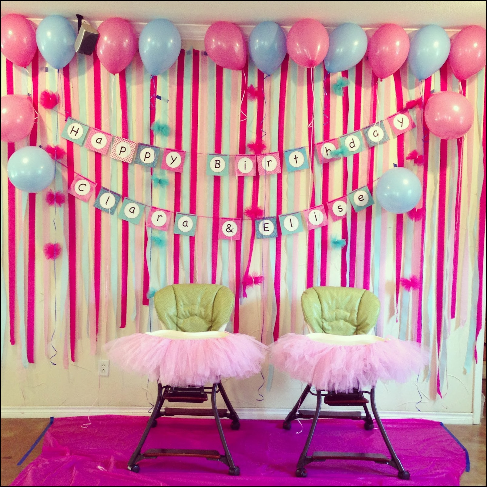 1st Birthday Party Decorations At Home 11