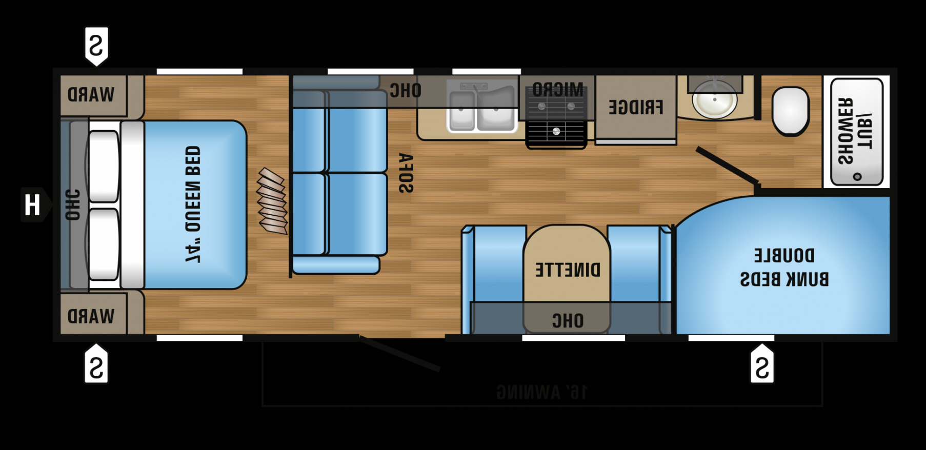 100 2 Bedroom Travel Trailer Floor Plans