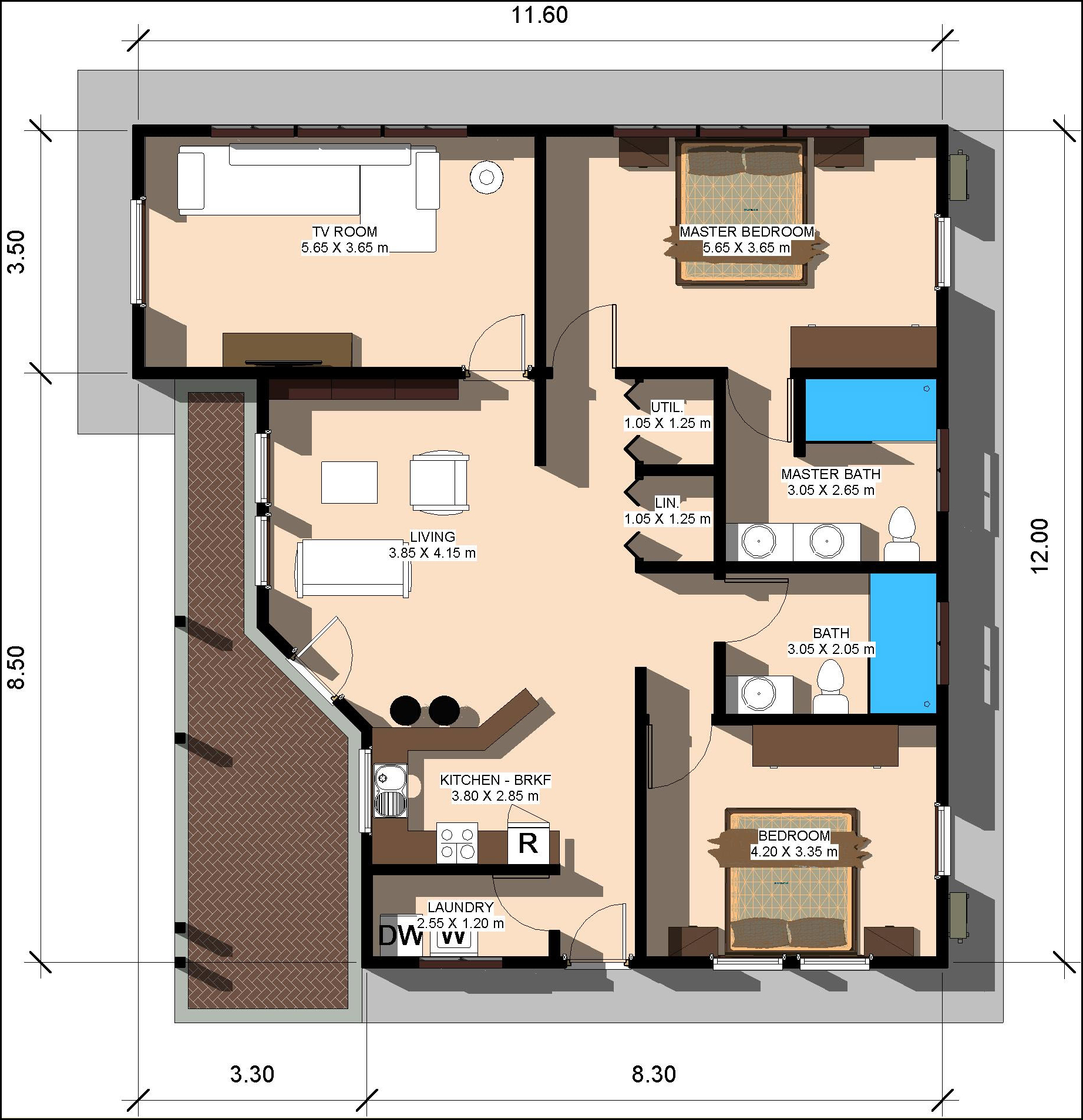 80 square meters in square feet home land packages