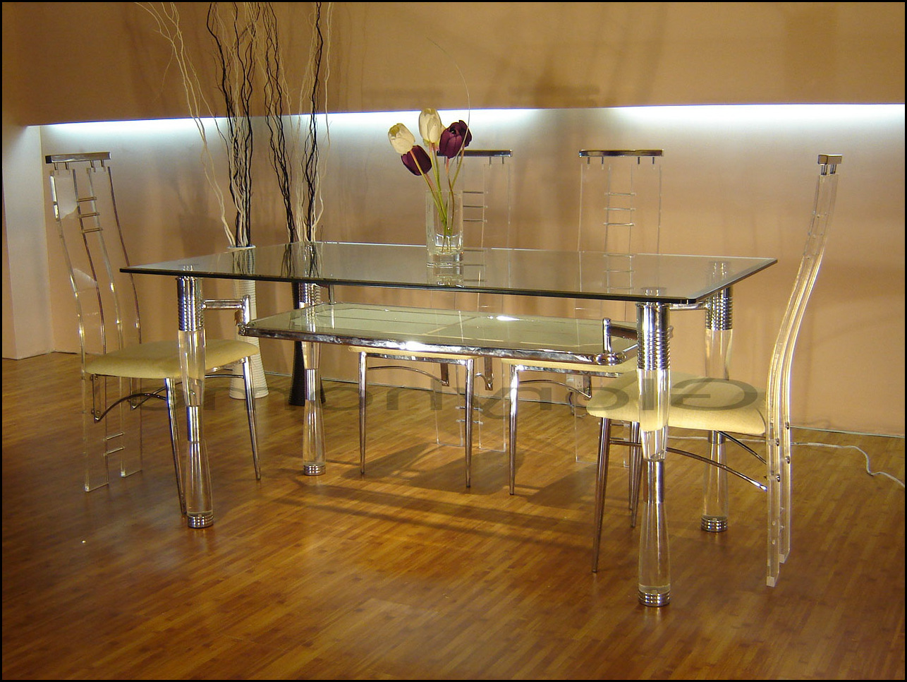 outstanding acrylic lucite furniture dining tables on table