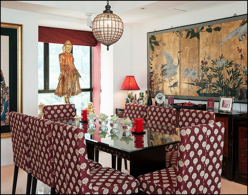 Asian style dining room furniture residence design and for Asian themed dining room ideas