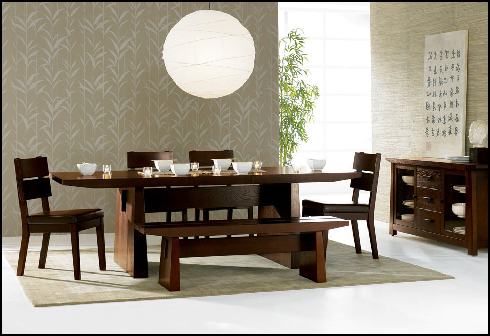 Asian Dining Room Furniture: Asian Style Dining Room Furniture Residence Design And