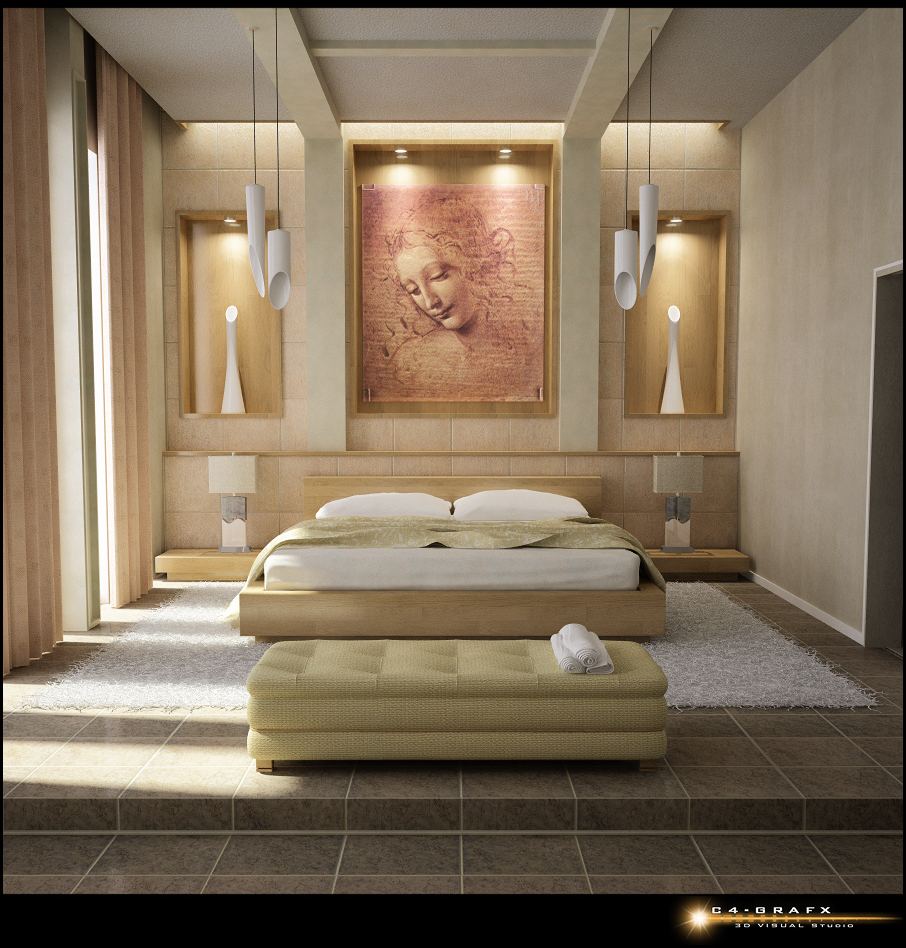 Bed Back Wall Design 10