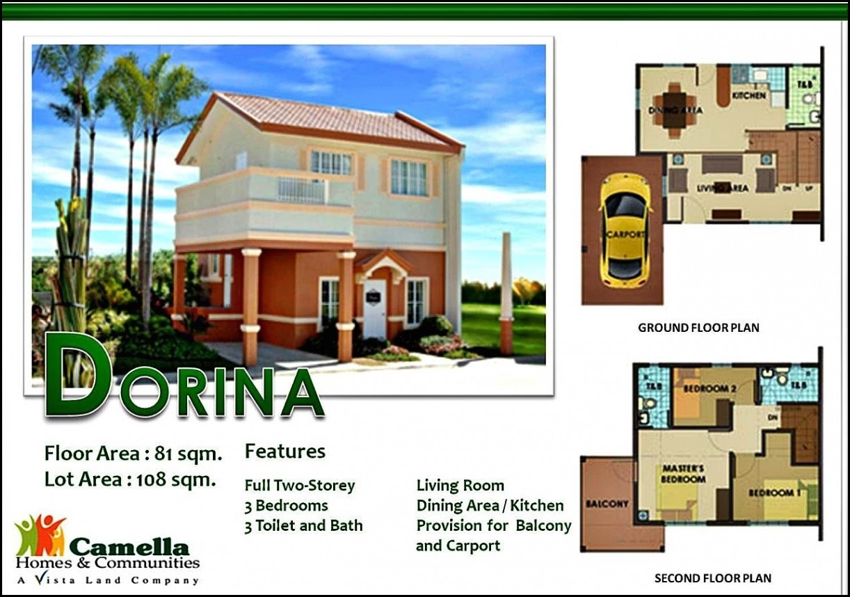 Camella Homes Drina Floor Plan | Wallpaper Matte