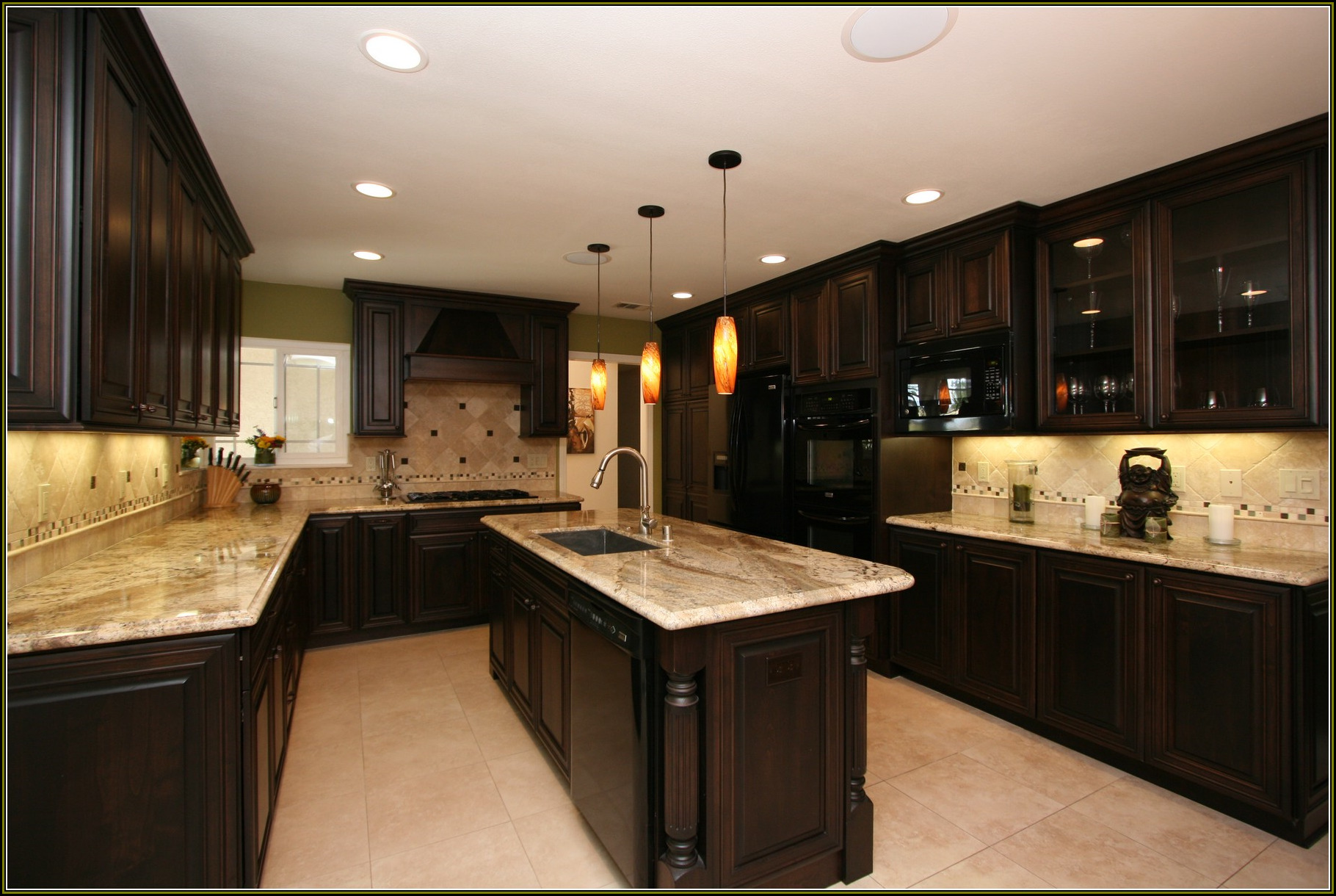 Significant Kitchen Islands Kitchens Pictures Black Cherry Cabinets With Granite Countertop Decor