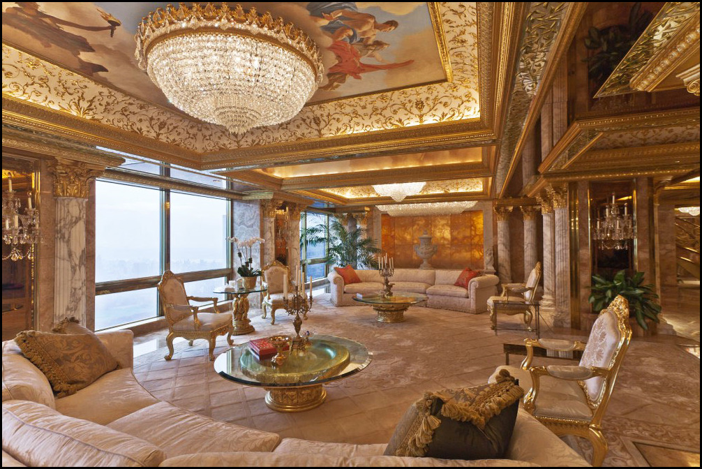 The Painting Now Hangs In Trump Tower President S Residence New York Where It Was Observed Background Through A 60 Minutes Interview