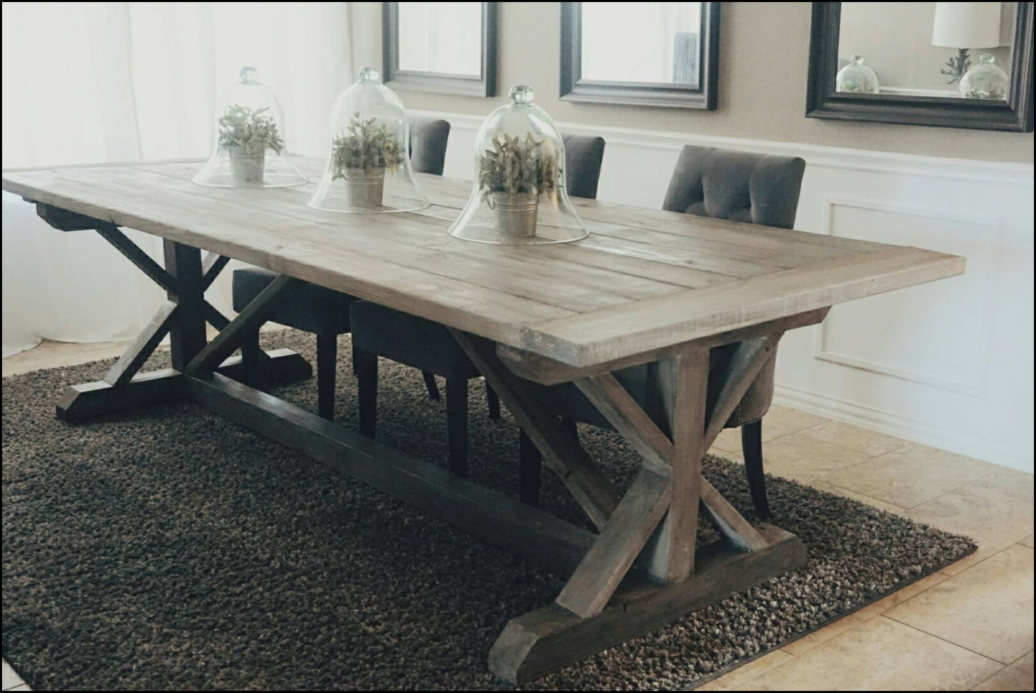 farm style dining area table make your dining room more attractive. Black Bedroom Furniture Sets. Home Design Ideas