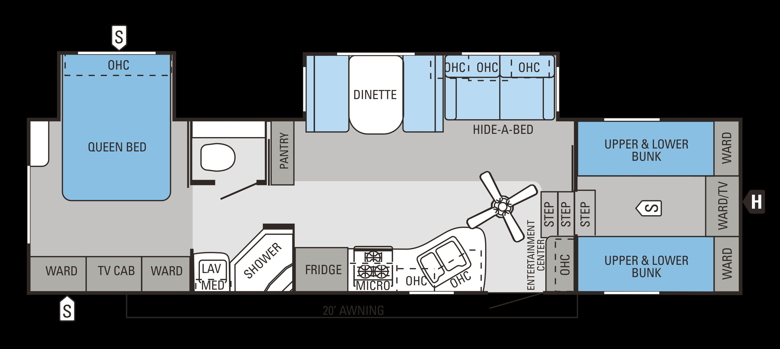 Dropping luxury fifth wheels for 2017 for Bunkhouse floor plans