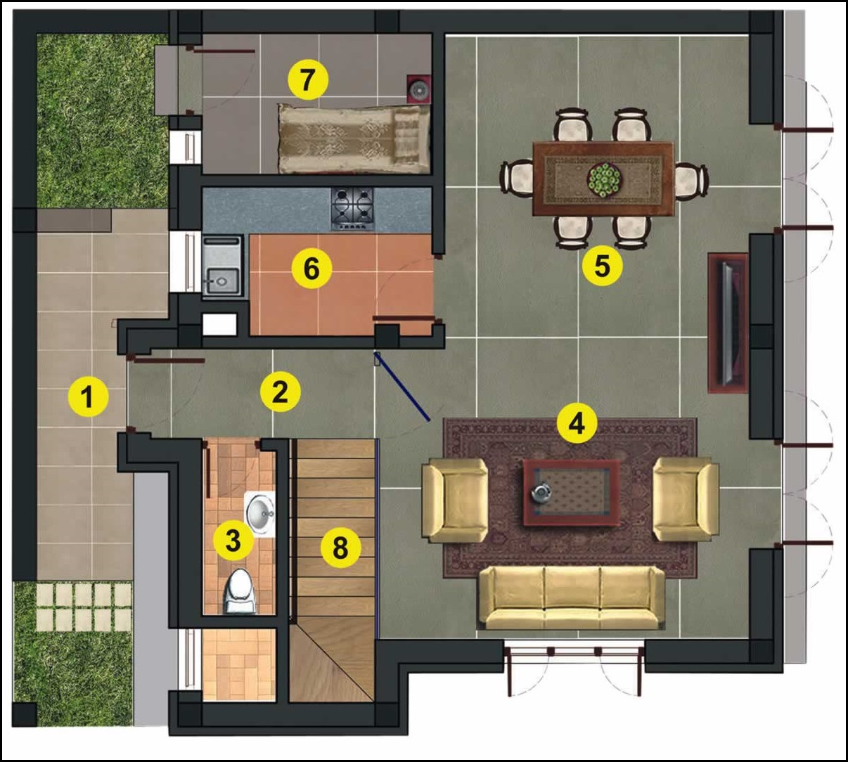 2 Bedroom House Designs Photographs Bungalow Plans Floor Plan With