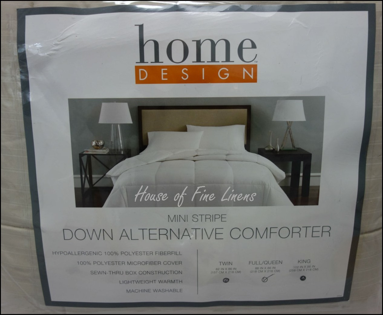 Home Design Down Alternative Comforter