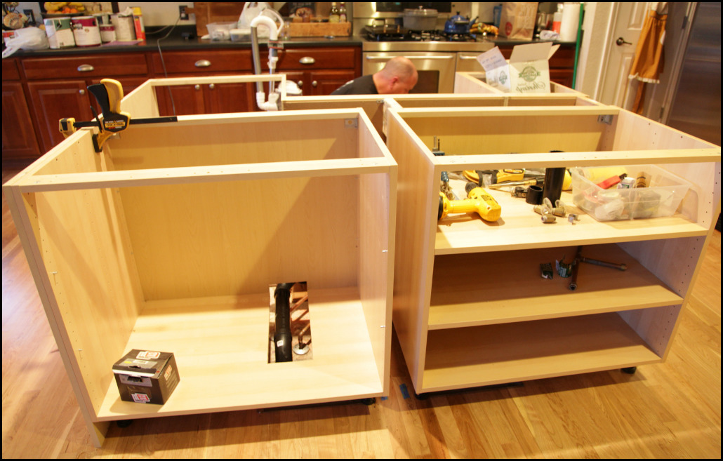 install kitchen island marvelous how to install kitchen island cabinets cabinet 390