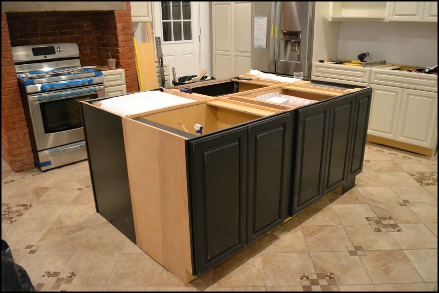 install kitchen island marvelous how to install kitchen island cabinets cabinet 12612