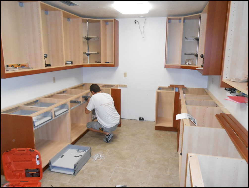 Installing ikea kitchen cabinets youtube price to set up for How to set up kitchen cabinets