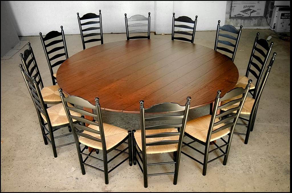 round dining room table seats 12. Black Bedroom Furniture Sets. Home Design Ideas