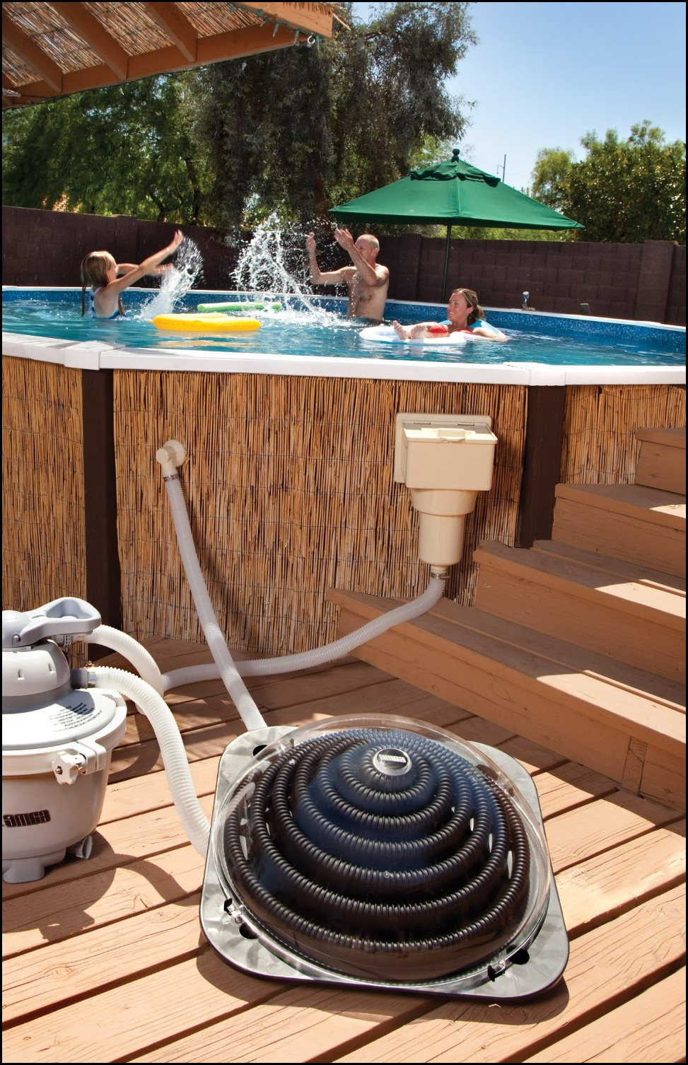 Poolmaster slim line solar pool heater for above ground for Top of the line above ground pools