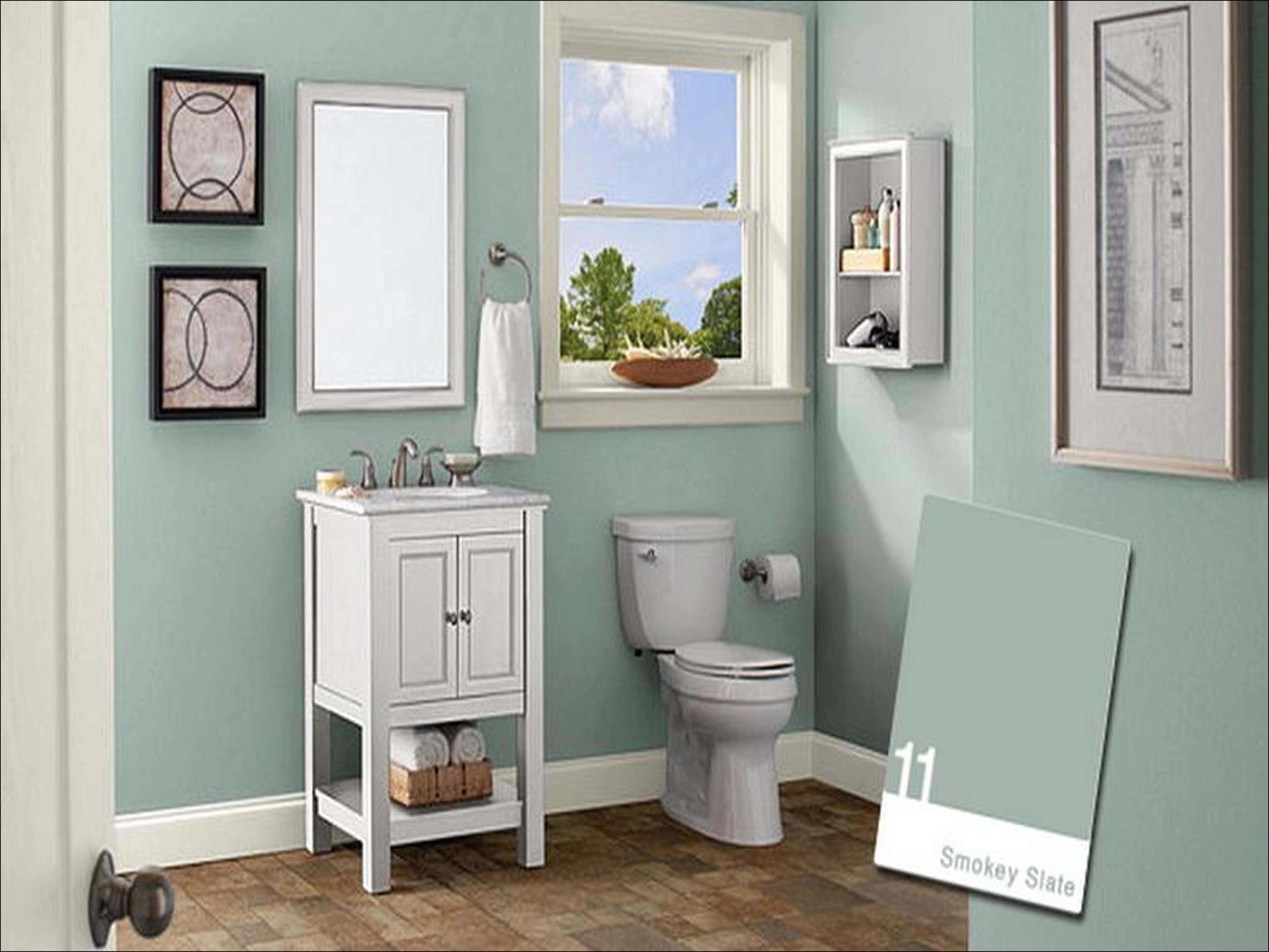 Charmant One More View That You Nonetheless Can Browse It Further For Smaller Bathroom  Paint Colors Concepts Is Little Bathroom Paint Colors Concepts Design, ...