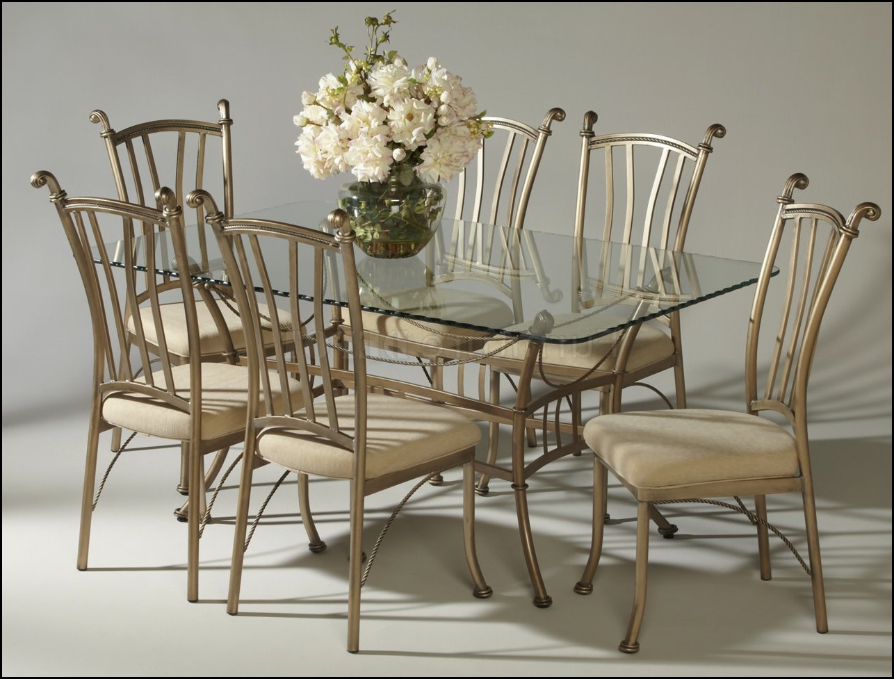 Indoor Wrought Iron Dining Room Sets Wallpaper Matte