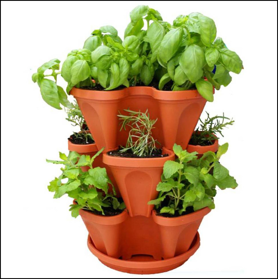 Marvelous Stacking Planters Container Gardening 13