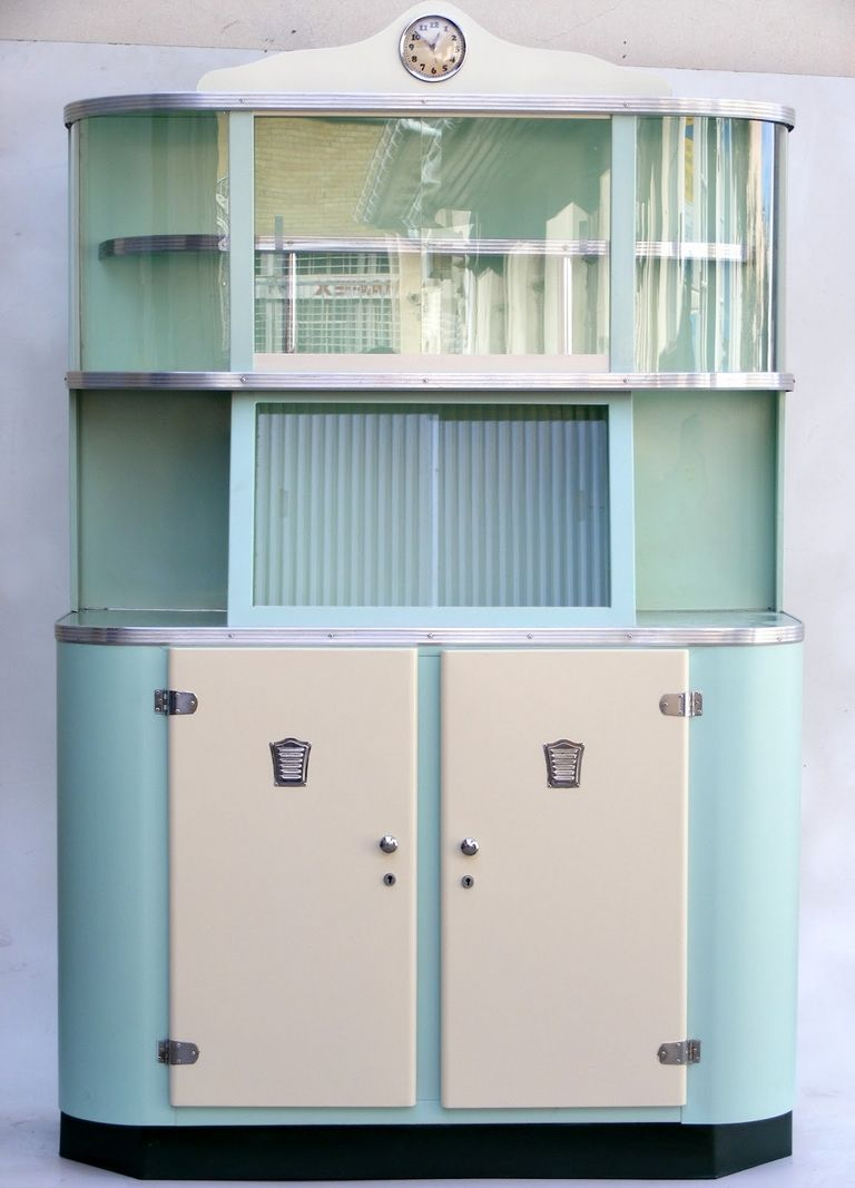 1950's Metal Kitchen Cabinets For Sale