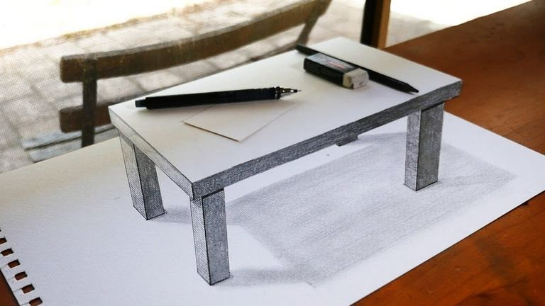 3d Table Drawing