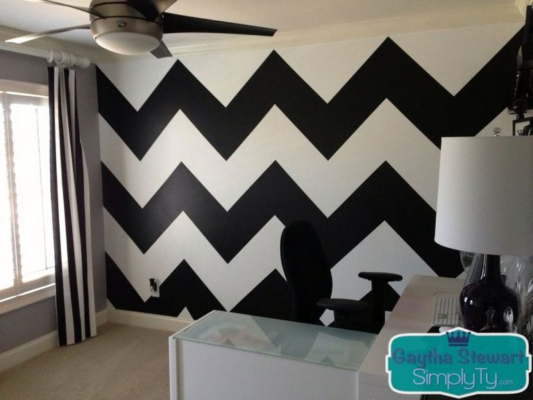 Chevron Wall Paint