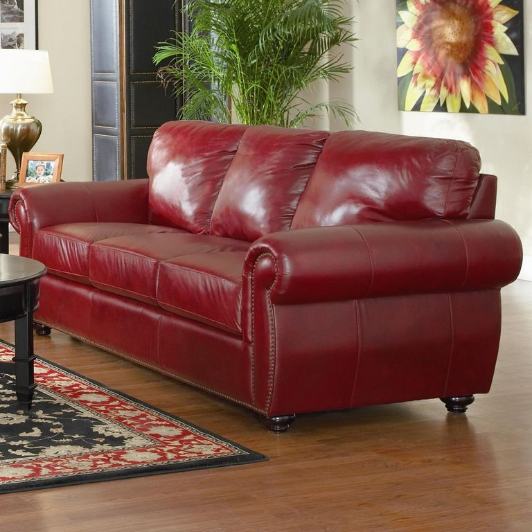 Colored Leather Sofas