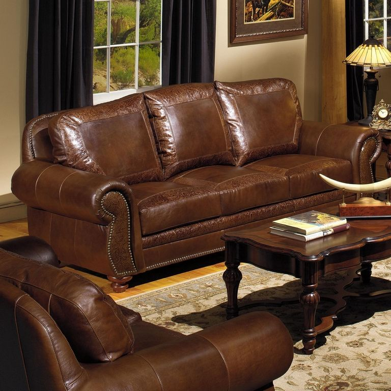 Comfy Leather Couch