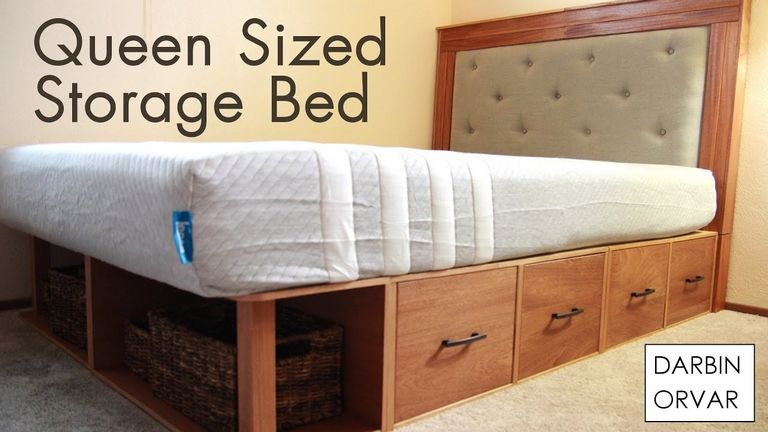 Diy Queen Storage Bed
