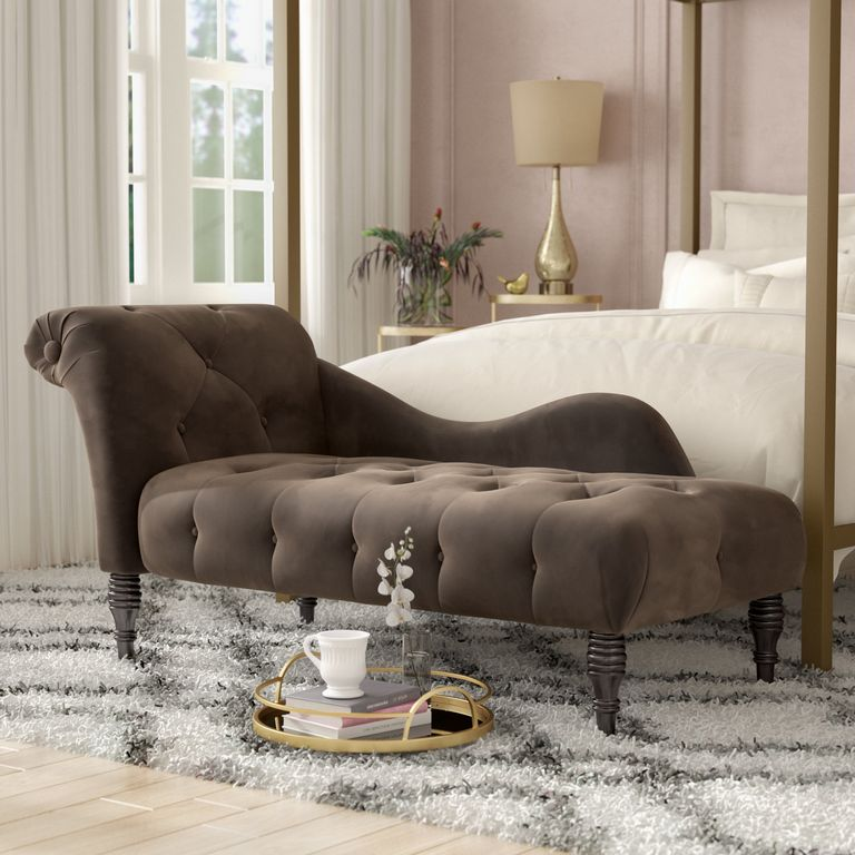 Fabric Chaise Lounge