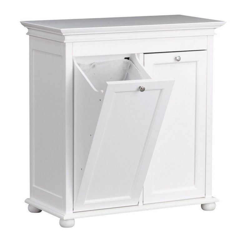 Free Standing Trash Can Cabinet