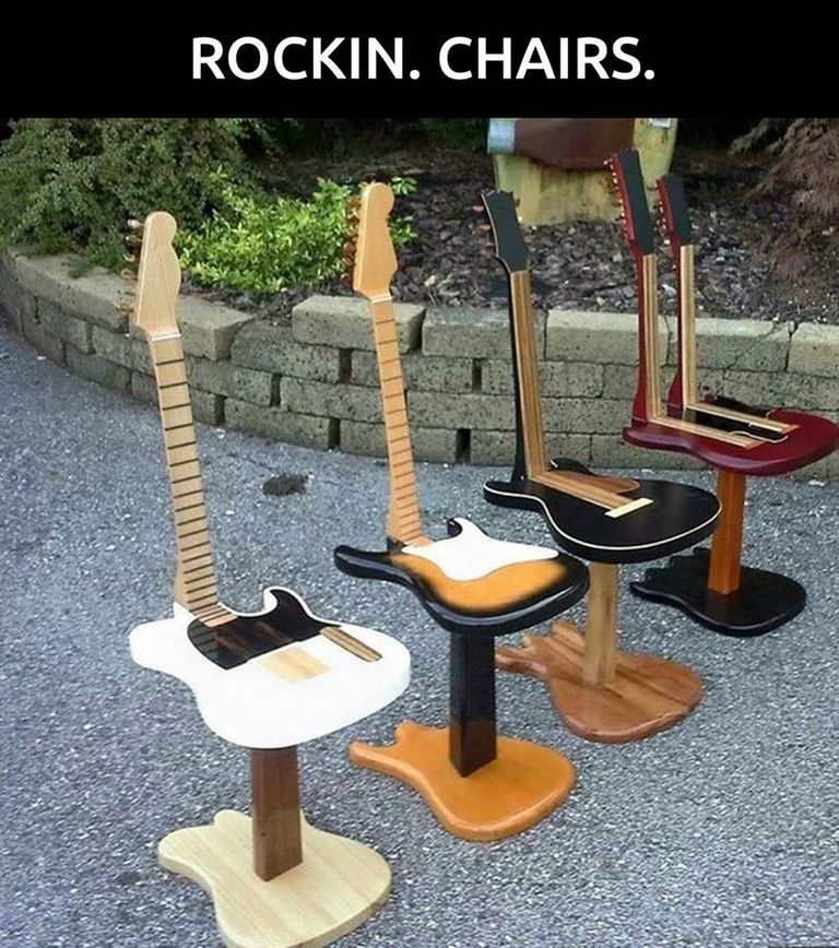 Guitar Shaped Chairs