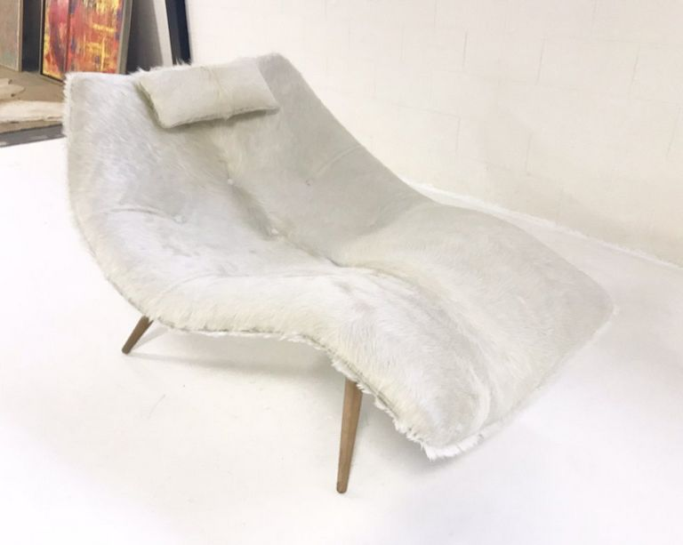 Ivory Chaise Lounge