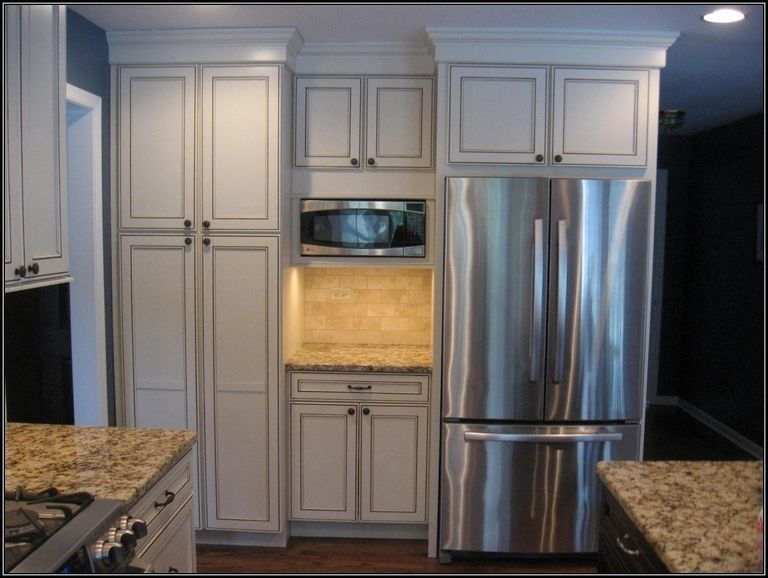 Kitchen Cabinet Pantry Around Fridge