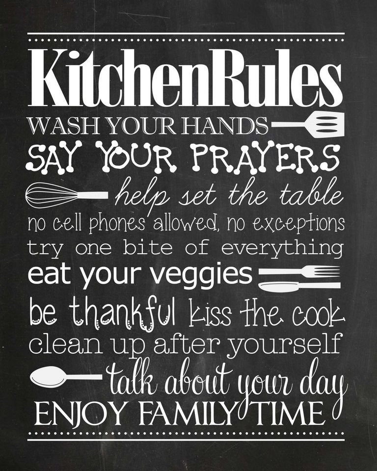 Kitchen Chalkboard Sayings