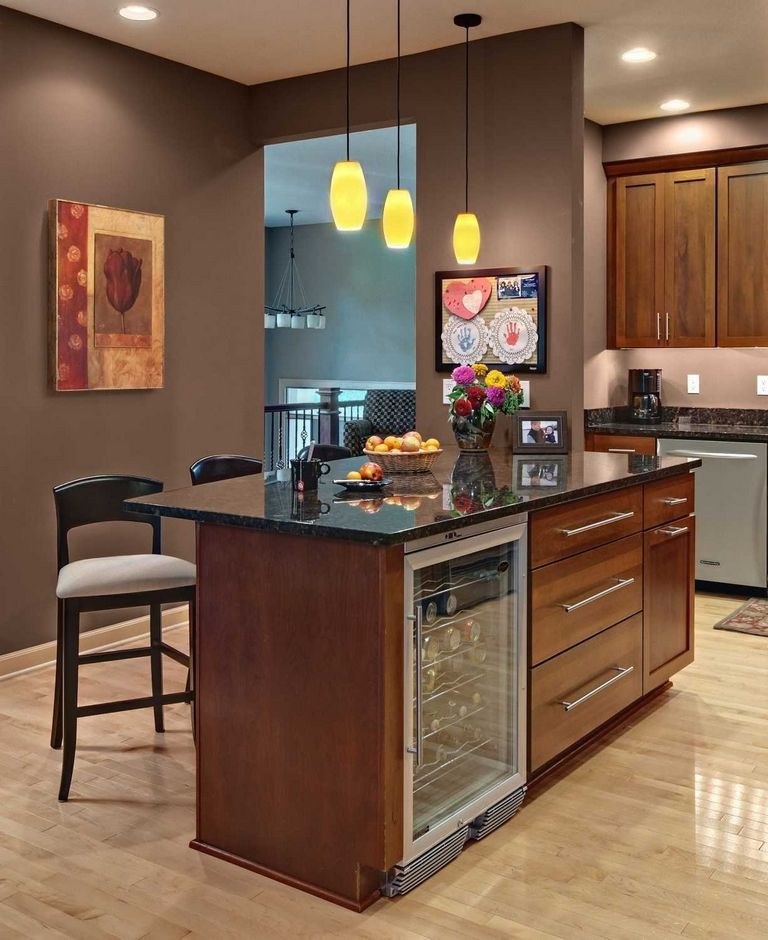 Kitchen Island With Wine Fridge