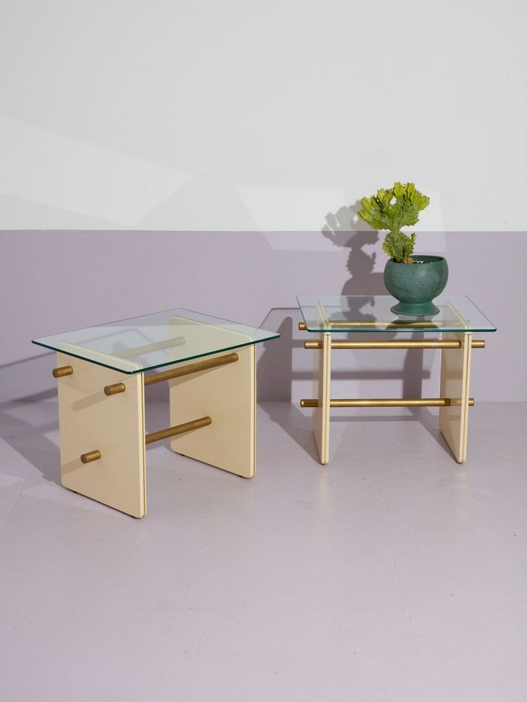 Lacquered Side Tables