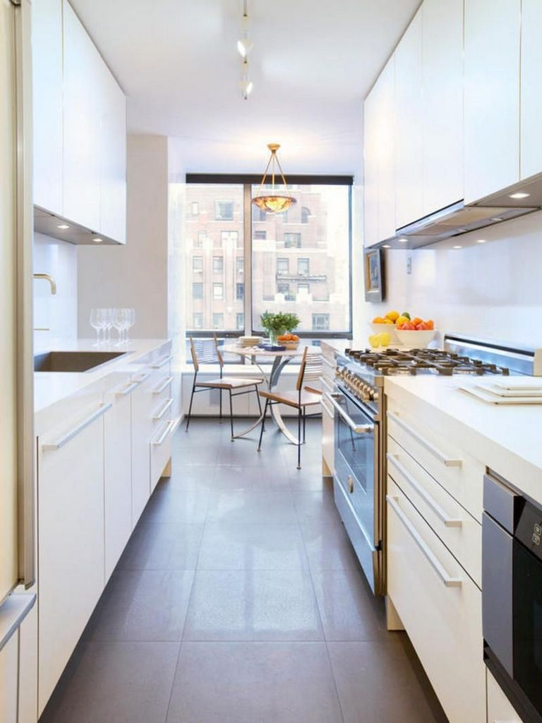 Narrow Kitchen Designs