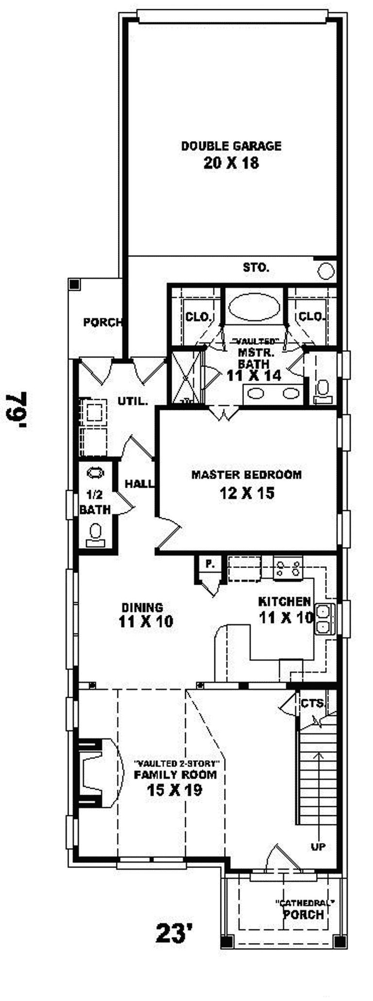 Narrow Lot Home Plans