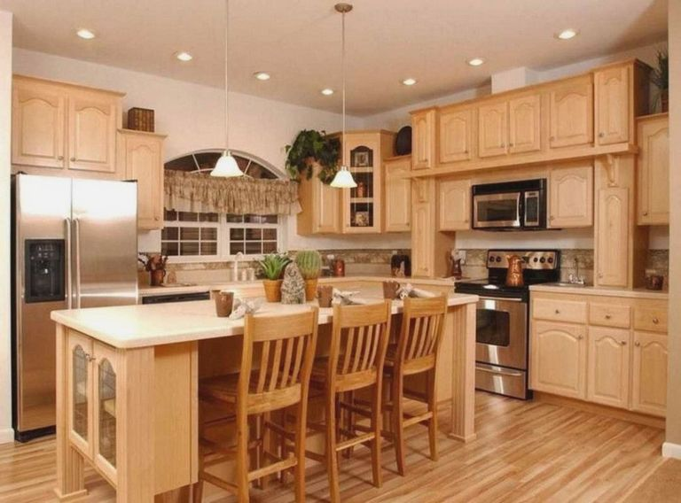 terrific kitchen colors light oak cabinets | Oak Trim Outdated
