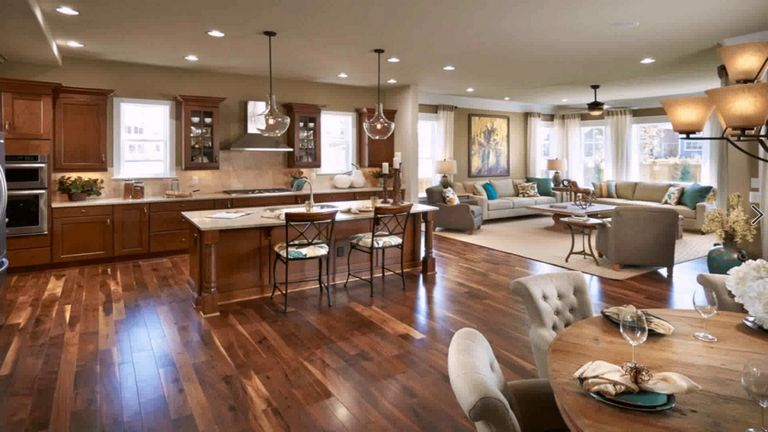 Open Floor Plan Kitchen Dining Living Room