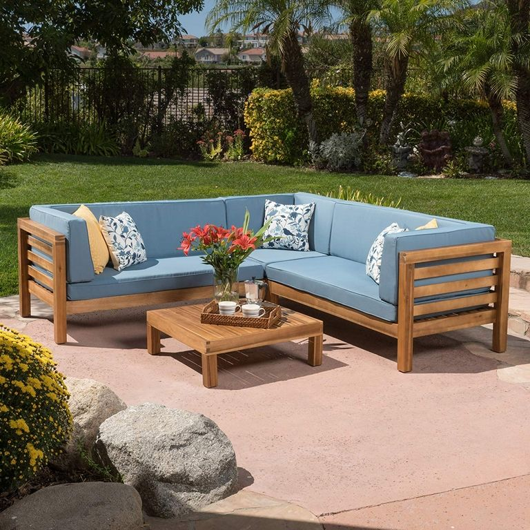 Outdoor Wood Sofa
