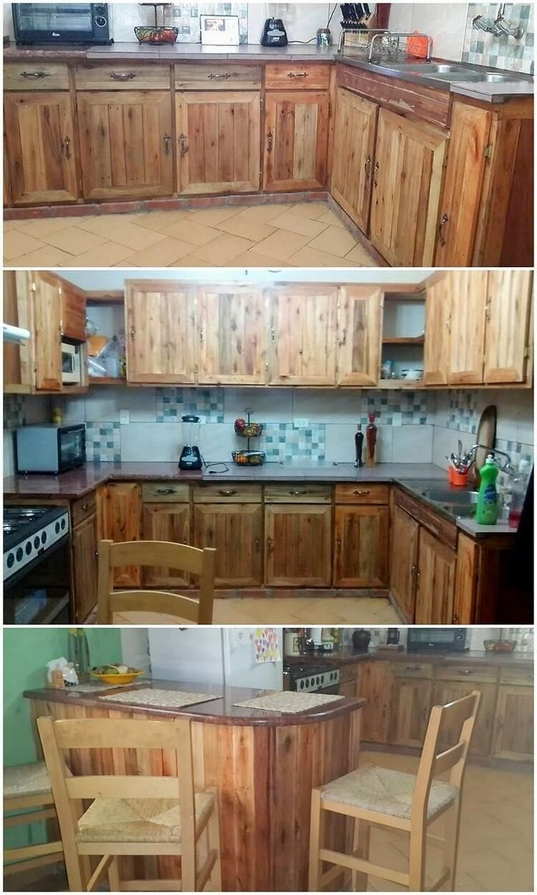 Pallet Kitchen Cabinet