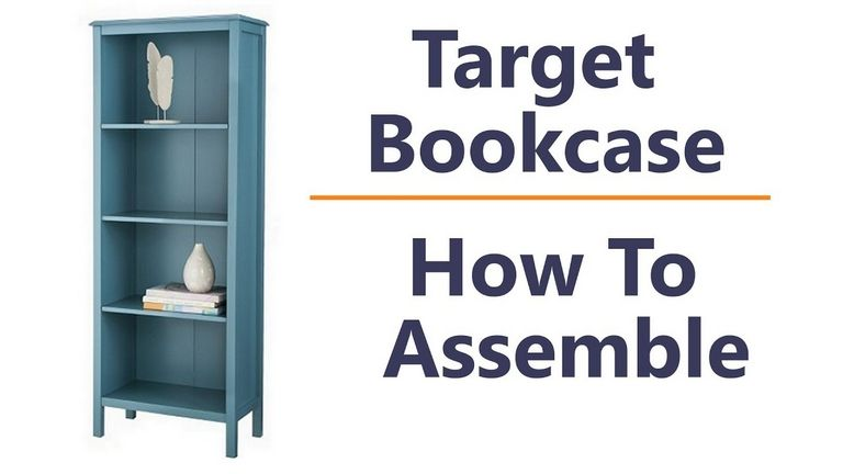 Room Essentials 5 Shelf Bookcase Assembly Instructions