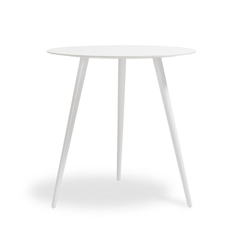 Small White Round Side Table