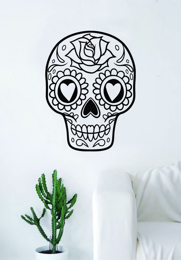 Sugar Skull Bedroom Decor