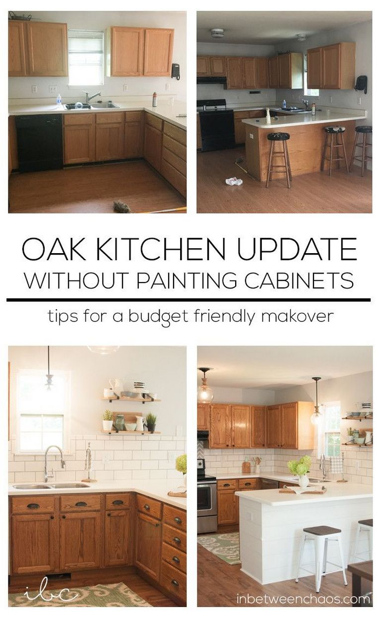 Updating Oak Cabinets Without Painting