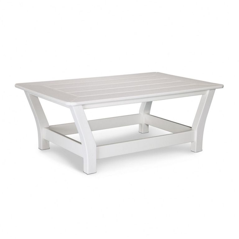 White Outdoor Coffee Table