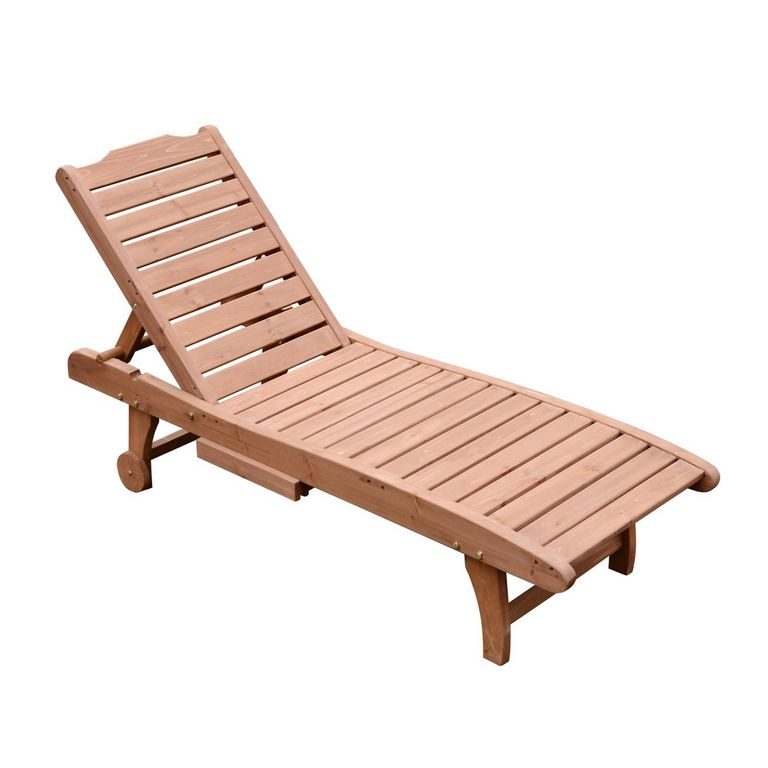 Wooden Chaise Lounge