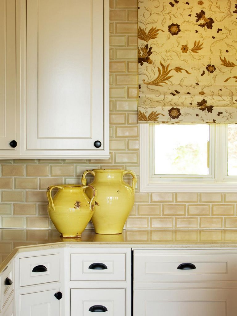 Yellow Backsplash Tiles